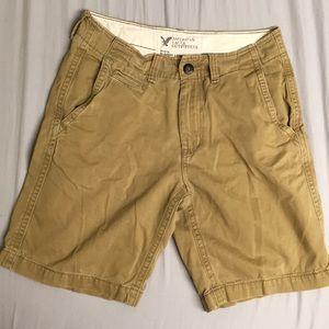 ✅ AMERICAN EAGLE AE Classic Length Shorts Tan 30 W